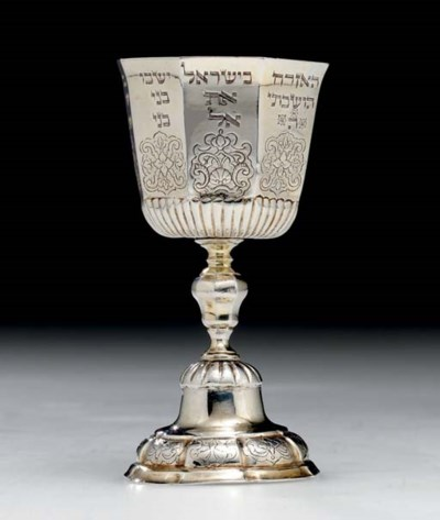 A GERMAN SILVER-GILT KIDDUSH C
