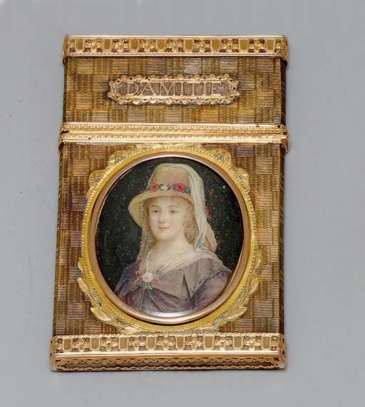 A LOUIS XV GOLD CARNET-DE-BAL*