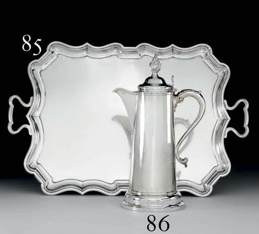 AN EDWARD VII SILVER TEA TRAY