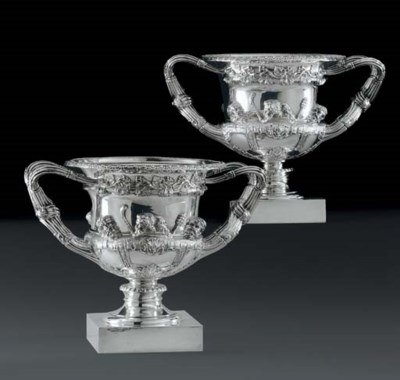 A PAIR OF GEORGE V SILVER WARW