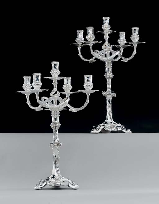 A PAIR OF SILVER VICTORIAN FIV