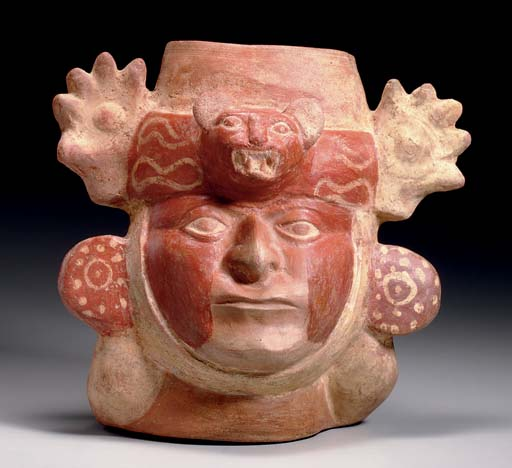 MIDDLE MOCHICA PORTRAIT HEAD