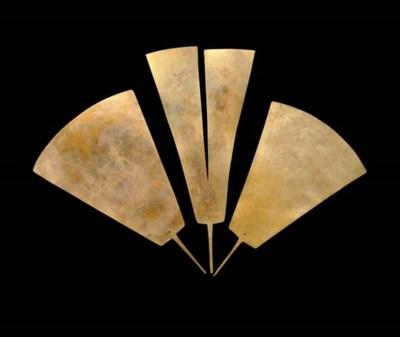THREE CHAVIN GOLD PLUMES