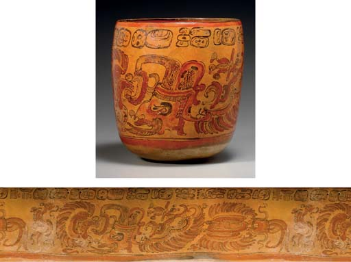 MAYAN PAINTED VESSEL