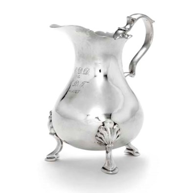 A SILVER CREAM JUG FROM THE DO