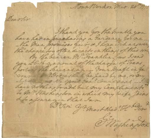 WASHINGTON, George (1732-1799)