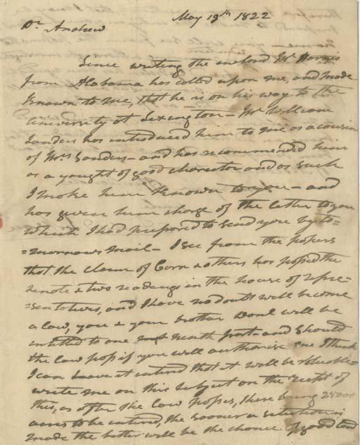JACKSON, Andrew (1767-1845). A