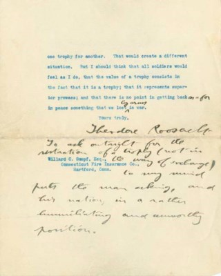 ROOSEVELT, THEODORE, President