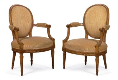 A PAIR OF LOUIS XVI BEECHWOOD