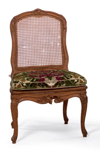 A LOUIS XV BEECHWOOD AND CANED