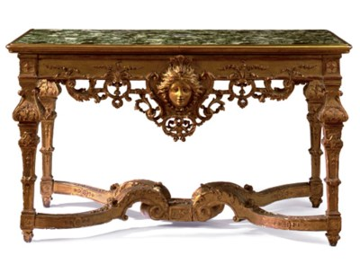 A LOUIS XIV GILTWOOD CONSOLE T