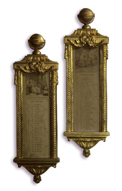 A PAIR OF LOUIS XVI ORMOLU CAL