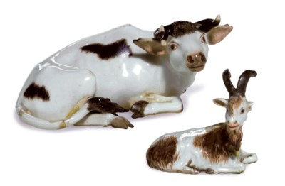 MEISSEN MODELS OF A RECUMBENT