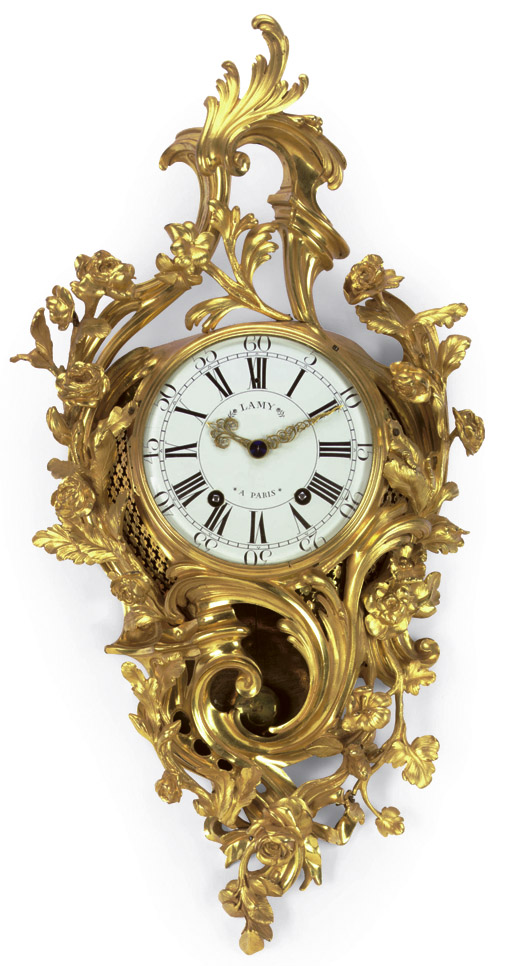 LOUIS XV ORMOLU CARTEL CLOCK