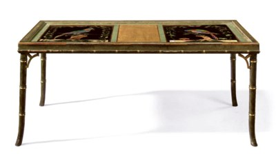 A PIETRE DURE MOUNTED LOW TABL