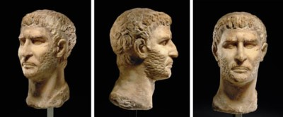 A GREEK MARBLE PORTRAIT OF A M