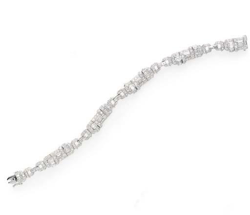 A DIAMOND BRACELET, BY FRED LEIGHTON