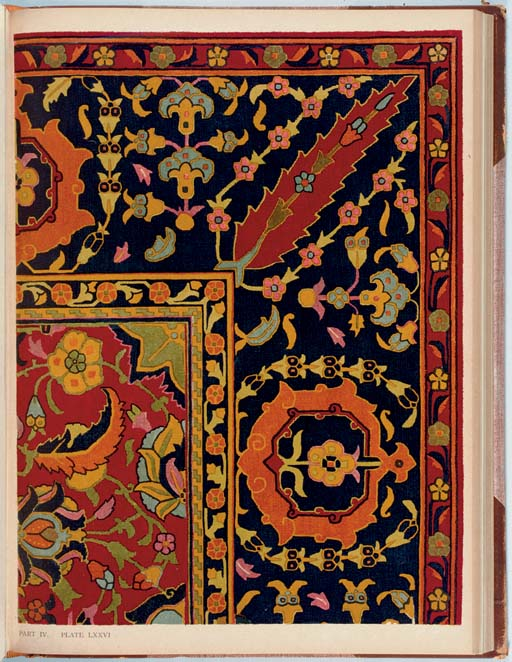 HENDLEY, Colonel Thomas Holbein.  Asian Carpets. XVI and XVII Century Designs from the Jaipur Palaces.  London: Kegan Paul, Trench, Trubner &  Co., [1905].