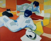 Woman with Cats