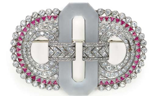 A ROCK CRYSTAL, DIAMOND, RUBY,