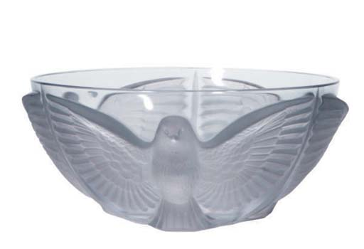 A FRENCH MOLDED GLASS BOWL,
