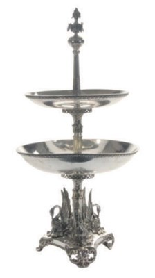 AN ENGLISH PLATED EPERGNE,
