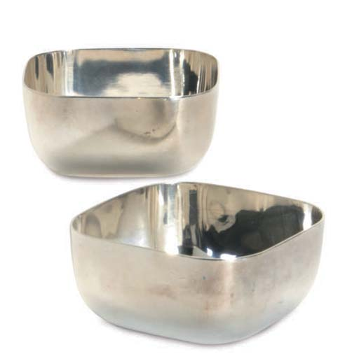 TEN FRENCH SILVER-PLATED SMALL