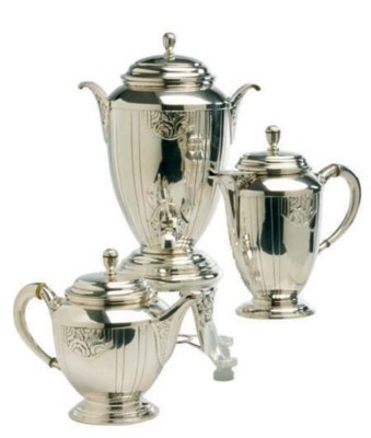 A CONTINENTAL SILVER-PLATED TE