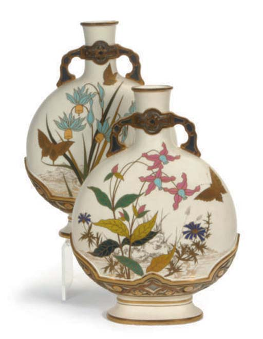 TWO ENGLISH PORCELAIN TWO-HAND
