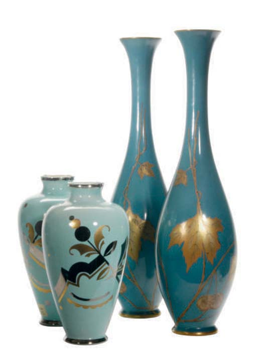 A PAIR OF FRENCH TURQUOISE CRA