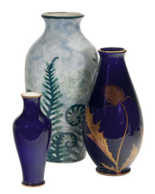 A GROUP OF FOUR FRENCH CERAMIC