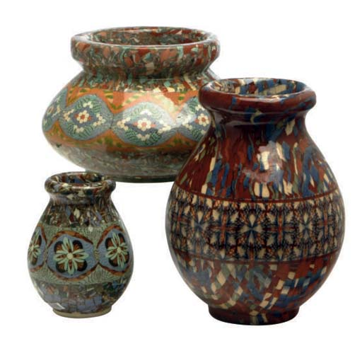 A GROUP OF FIVE FRENCH MOSAIC-