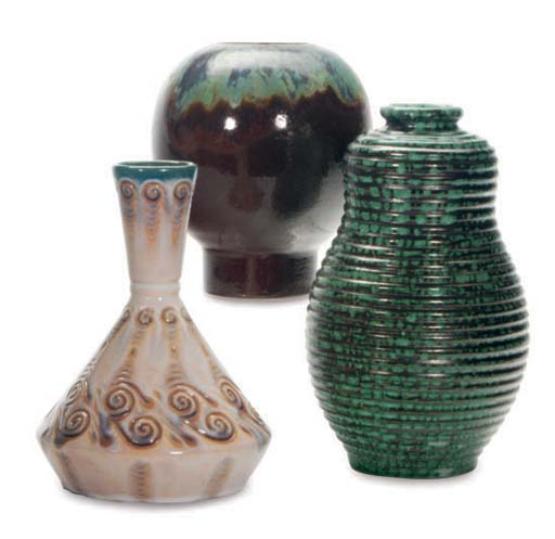 A GROUP OF FRENCH GLAZED EARTH
