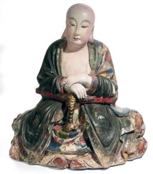 A CHINESE POTTERY MODEL OF A S