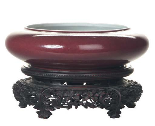 A CHINESE COPPER-RED AND UNDER