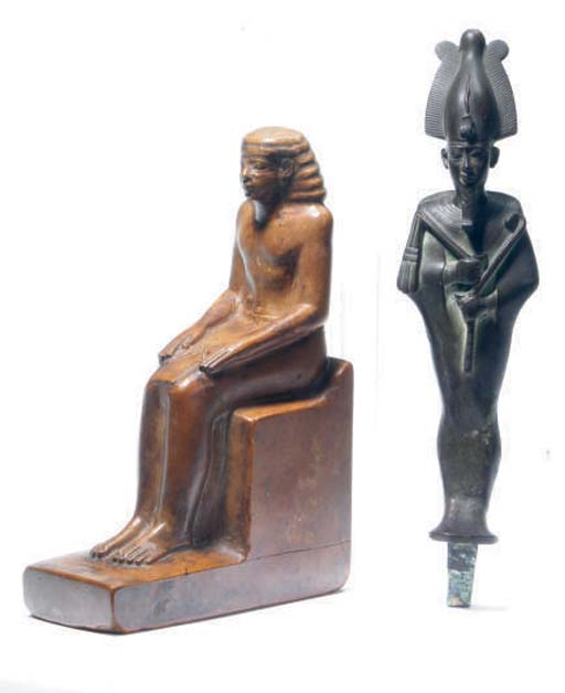 TWO EGYPTIAN STYLE FIGURES,