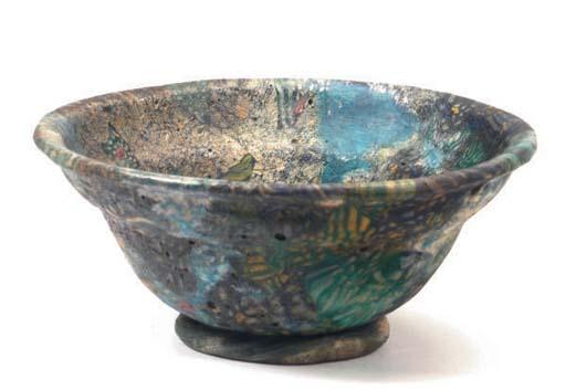 A ROMAN MILLEFIORI GLASS CUP,