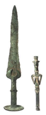 TWO LURISTAN BRONZE OBJECTS,