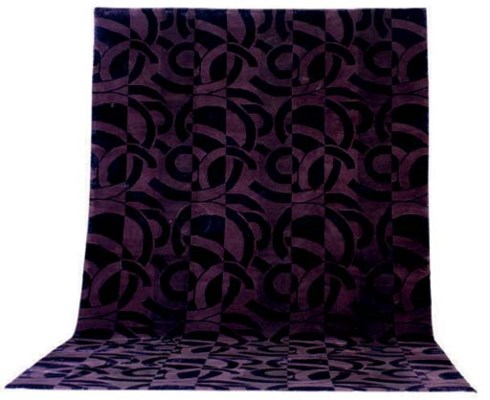 A SILK AND WOOL ART DECO STYLE