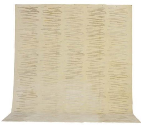 A SILK AND WOOL CARPET,