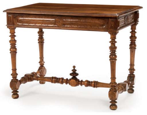 A CONTINENTAL CARVED AND TURNE