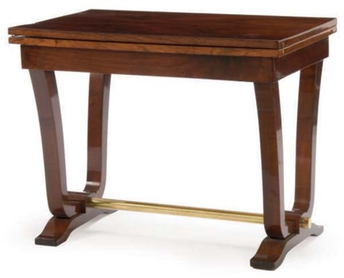 A ROSEWOOD, MAHOGANY, AND BRAS