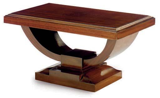 AN ART DECO MAHOGANY LOW TABLE