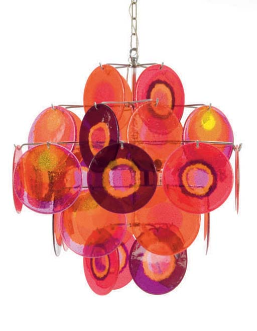 A CONTEMPORARY COLORED GLASS A