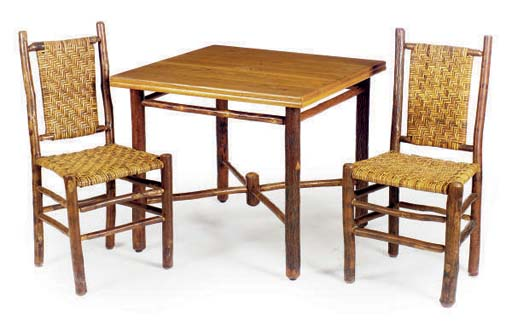 AN ADIRONDACK TABLE WITH FOUR
