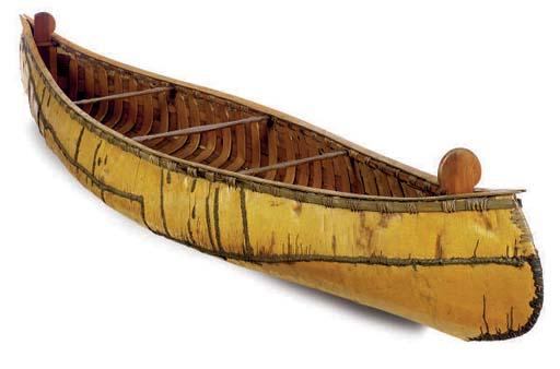 A BIRCH BARK CANOE,