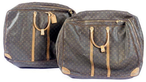 TWO LOUIS VUITTON SOFT LUGGAGE