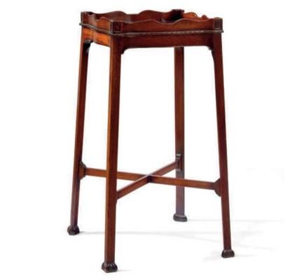A MAHOGANY URN TABLE,