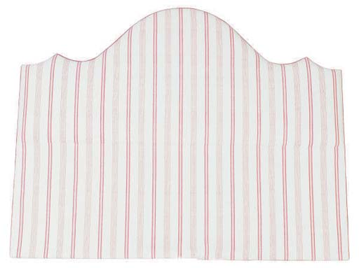 A RED AND WHITE STRIPED LINEN