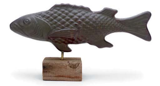 AN AMERICAN MOLDED TIN FISH WE